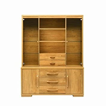 Strand Open Display Cabinet In Oak