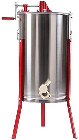 調節可能な高さの立場が付いている蜂蜜の抽出器の分離器の食品等級のステンレス鋼の蜜蜂の巣の紡績者のドラム手動クランク、抽出養蜂場遠心分離機装置(3フレーム)
