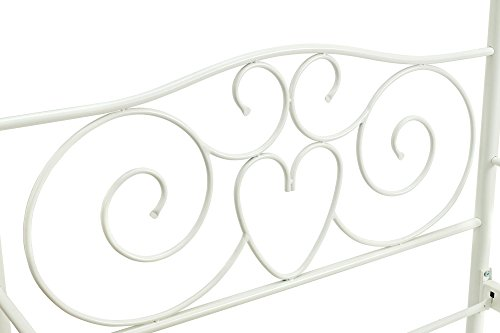 41FtPAjUhmL - DHP Canopy Bed with Sturdy Bed Frame, Metal, Twin Size - White