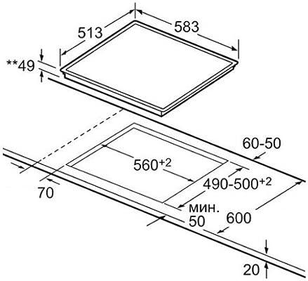 Bosch vitrocerámica de interfaz de instalación del Horno ...
