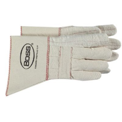 Gauntlet Cuff Hot Mill Gloves - heavy weight hot mill glove w/gauntlet [Set of 12] by Boss Manufacturing Company