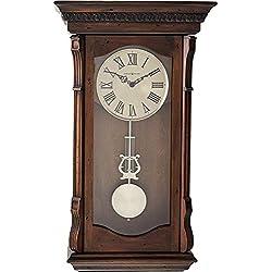 Howard Miller Agatha Wall Clock 625-578 - Acadia Finish with Quartz, Triple-Chime Movement