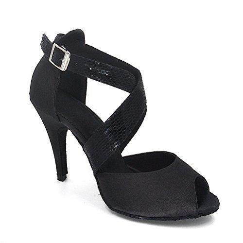 Mujer De Zapatillas Negro Poliuretano Para Misu Danza OnWFUnA