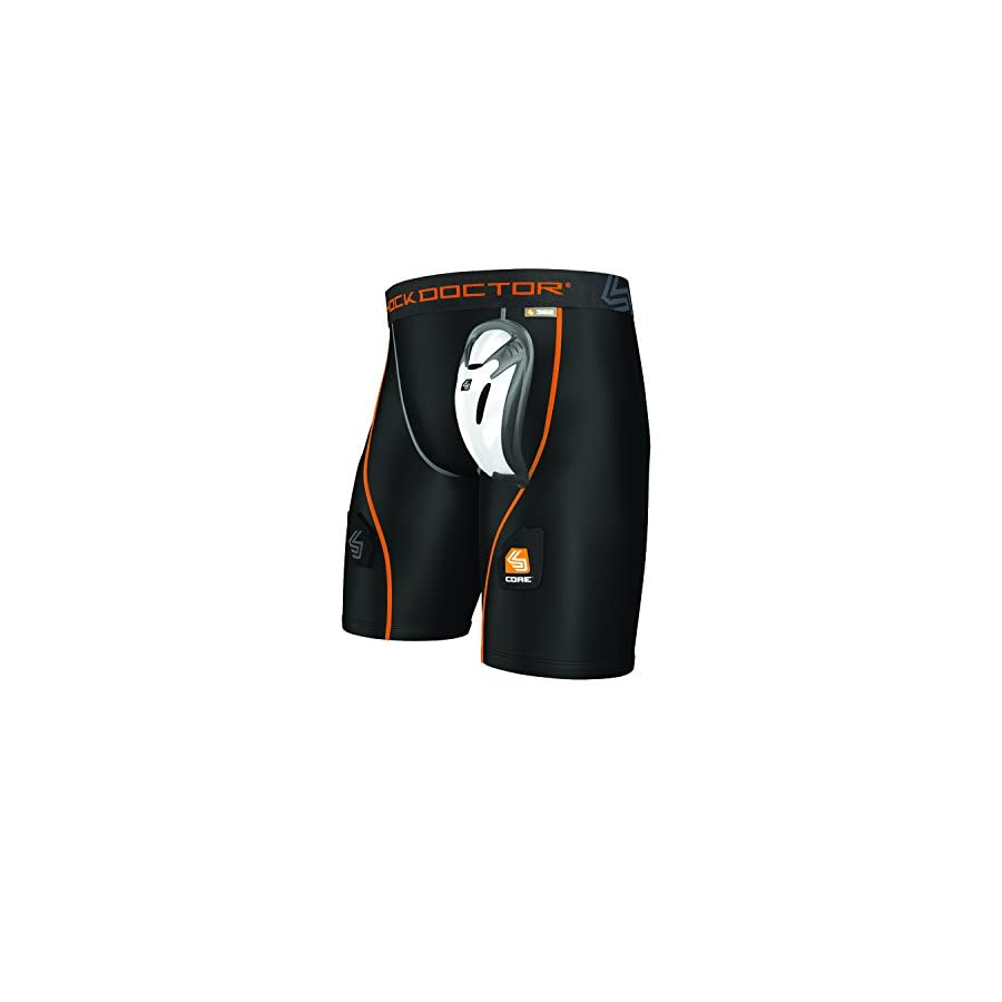 Shock Doctor Core Compression Hockey Shorts with Bio Flex Cup, Men's & Boy's