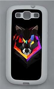 Techno Wolf TPU Silicone Rubber Case Cover for Samsung Galaxy S3 SIII I9300 White WANGJING JINDA