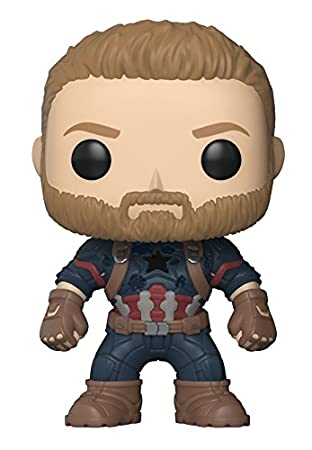 Funko 26466 Marvel: Avengers Infinity War - Captain America Collectible Figure Funko Pop! Marvel: Accessory Consumer Accessories