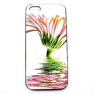 GDW caso duro del patrón de flor para el iphone 5 / 5s