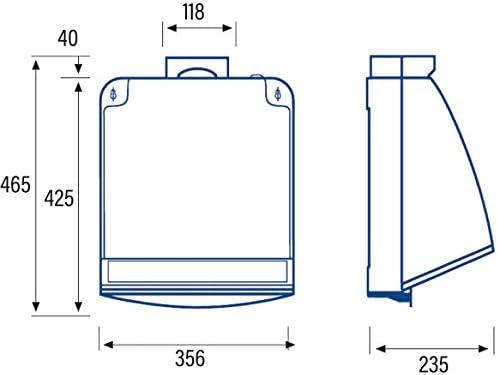 Cata Cocina silencioso   Modelo 750   Ventilador Extractores de Aire   Color Blanco, 105 W, 49 Decibelios, Estructura de Metal: Amazon.es: Grandes electrodomésticos