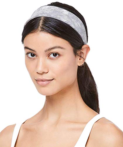 Lululemon Fly Away Tamer Headband (Washed Marble Alpine White Luxtreme)