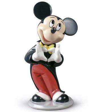 Lladro Figurine Porcelain Black Red Suit 9079 MICKEY MOUSE 01009079 - Widenshop - Best Gift for Birthdays, Holidays or any other Occasion - Collectibles Home Indoor decorations New - Issue 2017 ()