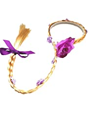 CHTENG Rapunzel Hair for Kids Tangled Dress Costumes Child Wig Hairpin (Purple)
