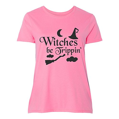 inktastic Witches Be Tripping with Women's Plus Size T-Shirt 3 (22/24) (Plus Size Witch Clothing)