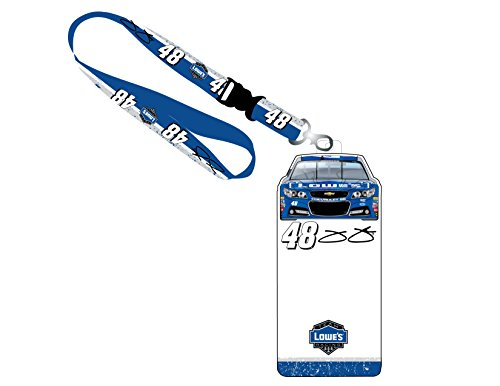 NASCAR #48 Jimmie Johnson Credential Holder w/ Lanyard-NASCAR ID holder-NEW FOR - Johnson Lanyard Jimmie