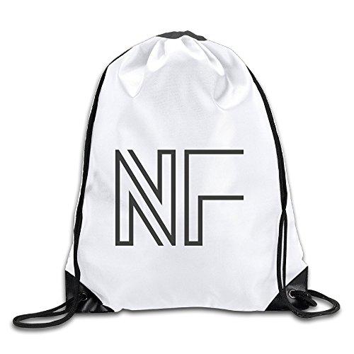 Hunson - Special N F Logo Backpack Sack Bag Drawstring Sling Backpack For Men & Women Sackpack