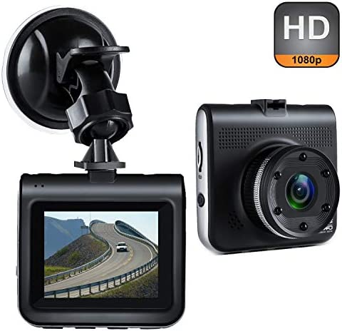 Dash Cam, Uidoks Mini Dash Camera for Cars with FHD 1080P, 2.2 LCD, 170 Degree Wide-Angle View Lens, G-Sensor, Loop Recording, Great Night Vision
