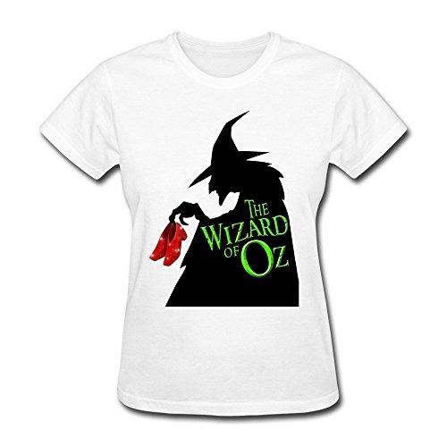 [Konoyie Women's The Wizard Of Oz The Witch T-Shirt - Vintage Tee White US Size XL] (Wizard Of Oz Witch Socks)