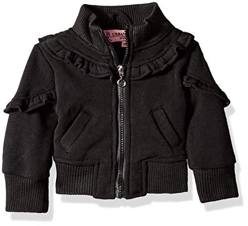 Urban Republic Baby Girls Fleece Jacket, Black, 24M