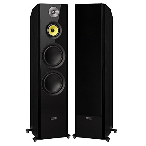 Fluance Signature Series Hi-Fi Three-way Floorstanding Tower Speakers with Dual 8″ Woofers (HFF)