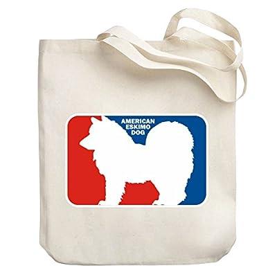 60cf4f01b5 Teeburon American Eskimo Dog Sports Logo Canvas Tote Bag best ...