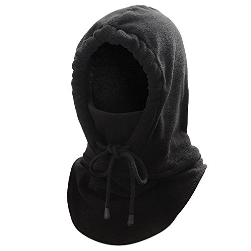 WinCret Fleece Tactical Balaclava - Windproof Ski Mask Warm Face Mask with Neck Warmer for Winter Outdoor Activities