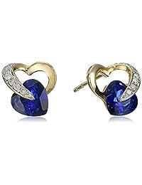 10k Diamond Heart Earrings (1/12 cttw, I-J Color, I2-3 Clarity)