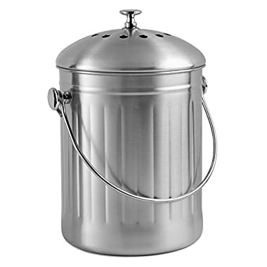 Chef's Star Stainless Steel Compost Bin 1 Gallon