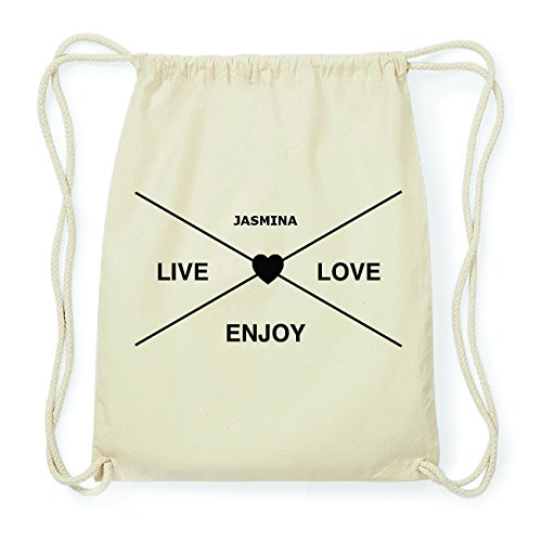 JOllify JASMINA Hipster Turnbeutel Tasche Rucksack aus Baumwolle - Farbe: natur Design: Hipster Kreuz gGBxIUum