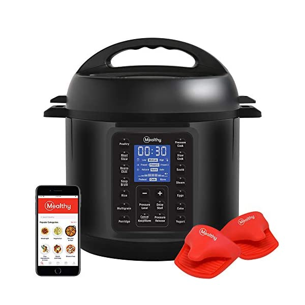 Mealthy MultiPot 9-in-1 Programmable Pressure Cooker with Stainless Steel Pot, Steamer Basket, Full Accessory Kit… 1
