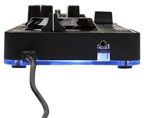Hercules DJControl Starlight | Pocket USB DJ Controller with Serato DJ Lite, touch-sensitive jog wheels, built-in sound card and built-in light show