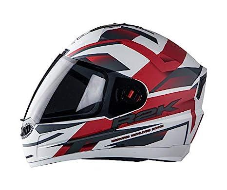 fb1827c9 Steelbird SBA-1 R2K Full Face Graphics Helmet in Matt Finish with Smoke  Visor (Large 600 MM, Matt White with Red): Amazon.in: Car & Motorbike