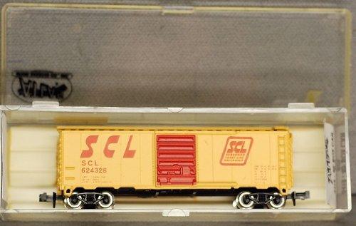 """N Scale ATLAS 40 Foot Box Car""""Seaboard Coastline"""" Freight train car - 3418"""