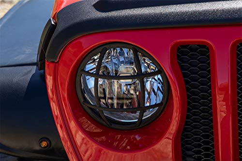 Rampage Euro Headlight - Rampage Products 88668 Black Euro Headlight Guard for 2018 Jeep Wrangler JL