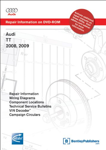 Audi TT 2008, 2009: Repair Manual on DVD-ROM (Windows 2000/XP)