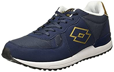 Lotto Men's Rochester Black/Golden Running Shoes-6 (8907181703688)