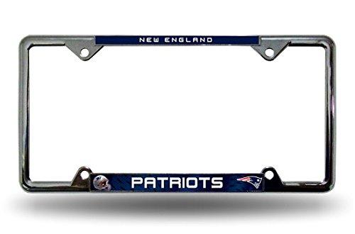 New England Patriots Chrome License Plate - New Frames
