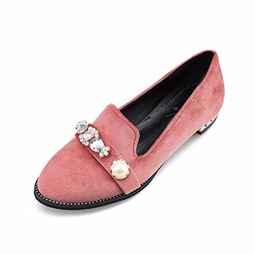 Tapa ante de Pink zapatos plana qwKqRgzZ