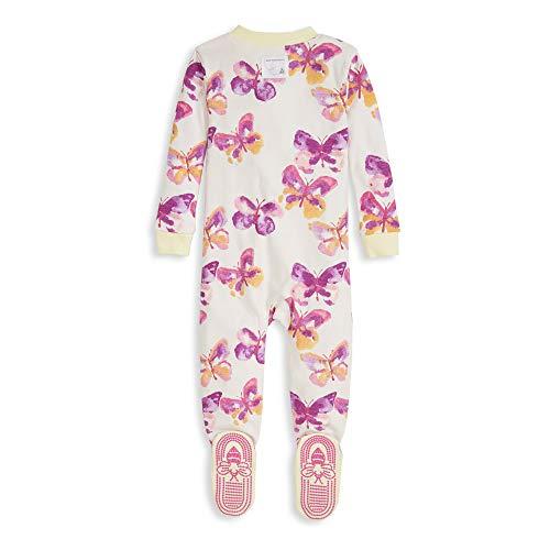 Burt's Bees Baby Baby Girl's Pajamas, Zip Front Non-Slip Footed Sleeper PJs, 100% Organic Cotton