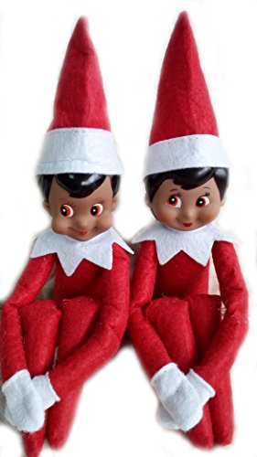 LICY Christmas Novelty Elf on the Shelf Plush Dolls (Red Black) (Show Me Pictures Of Monster High)