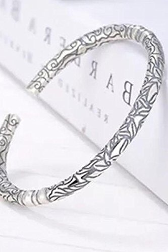 Generic Chen Weiting Buddha old nine Zhao Liying same paragraph retro 925 sterling silver dragon bracelet man boy and women girls lady couple opening Thai by Generic