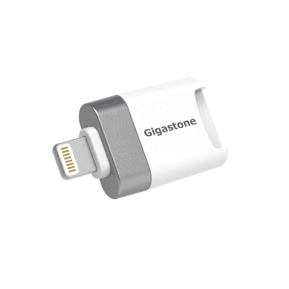 Gigastone MicroSD Card Reader for iPhone iOS iPhone 8//X up to 32GB Card iPod Compatible iPhone 7//7-Plus//XS//XS-MAX//XR up to 128GB Card iCloud iPad Packaging bundle w// 16GB Micro SD Card Apple MFi Certified Lightning Versatile App