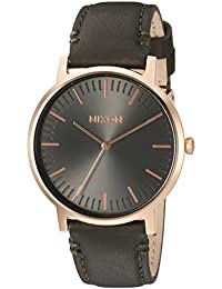 Nixon Unisex The Porter Leather Rose Gold/Gunmetal/Surplus