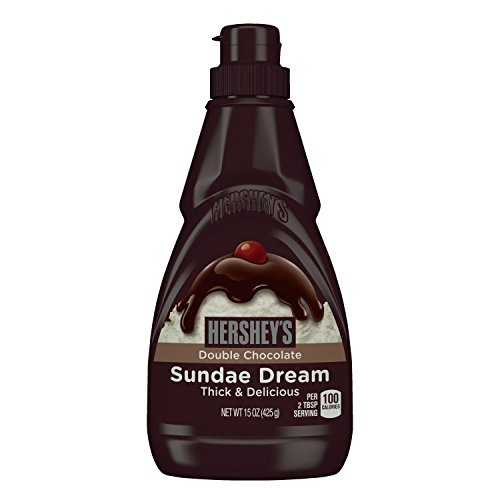 HERSHEY'SSUNDAE DREAM Double Chocolate Syrup (15-Ounce Bottles, Pack of 6)