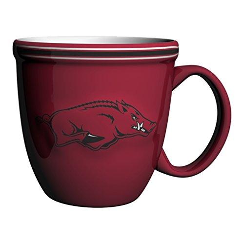 NCAA Arkansas Razorbacks Bistro Mug, 15-ounce, Red