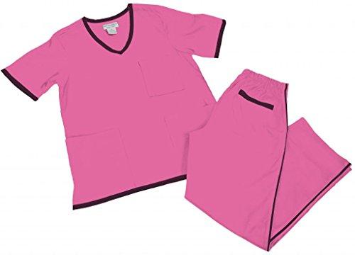 Natural Uniforms Women's Contrast Trim Scrub Set