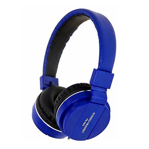 Clearance Sale ! FE-007 Stereo Headset Wired Headphones Build in Mic Control Crystal Sound AUX by Charberry (Dark Blue) ()