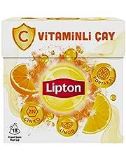 Lipton C Vitaminli Portakal ve Limon Aromalı Bardak Poşet Bitki ve Meyve Çayı 18'li