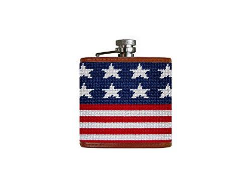 Smathers & Branson Old Glory (Multi) Needlepoint Flask (Flask-75)
