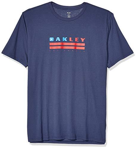 Oakley Mens Men's Oakley California TEE, Foggy Blue, L (Oakley Radar-rahmen)