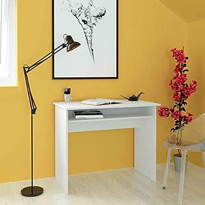Escritorio de melamina de 90 cm de ancho con balda fija, Samblo ...