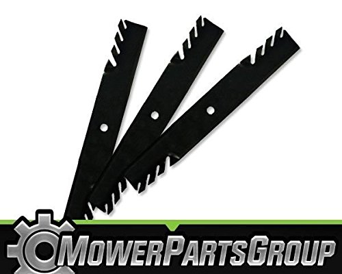 """MowerPartsGroup (3) Toothed Blades Fits John Deere with 60"""" 7 Iron Deck M128485 M144196"""